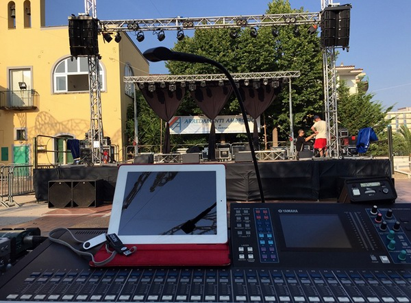 MD LIGHTING provides professional stage light for Italian small outdoor stage